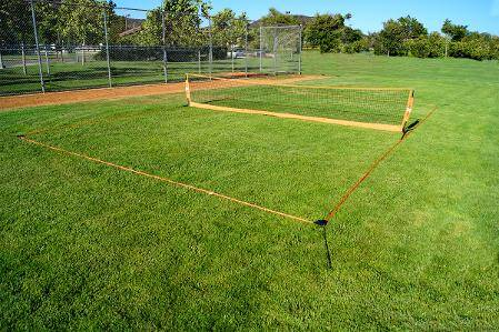 18' Soccer Tennis Net with Court