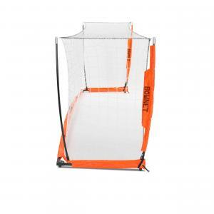 4x12 Soccer Bownet on White Background Side View