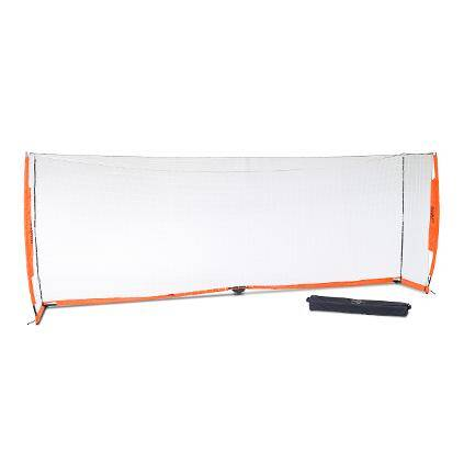6x18 Soccer Bownet on White Background with Roller Carry Bag