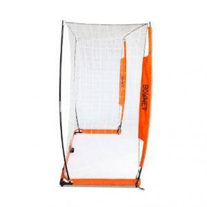 6x18 Soccer Bownet on White Background Side View