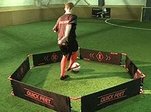 Quickfeet Trainer with Player on Grass