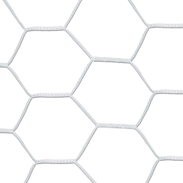 8x24x6x6 White 5MM Hex Soccer Net Net