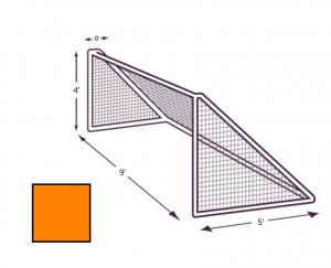 4x9 Orange Net with No Depth