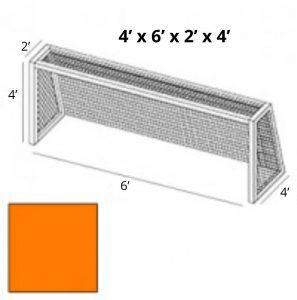 4x6 Orange Soccer Net