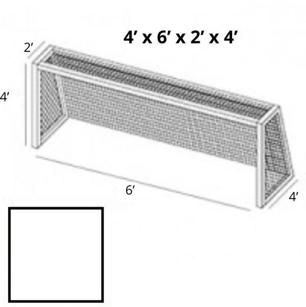4x6 White Soccer Net