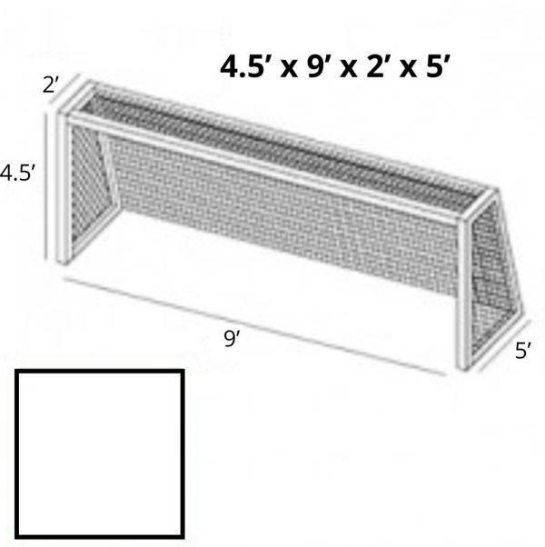 4x9 White Soccer Net