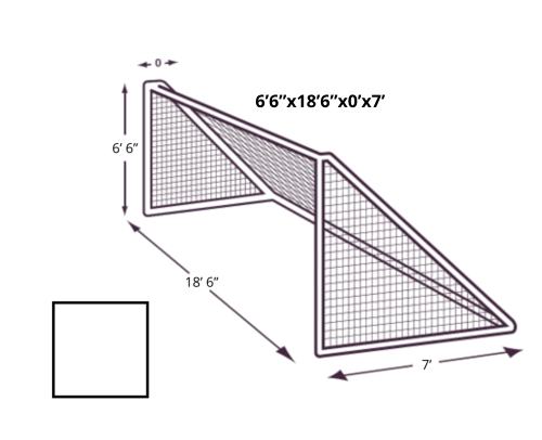 6x18 Soccer Net with No Depth