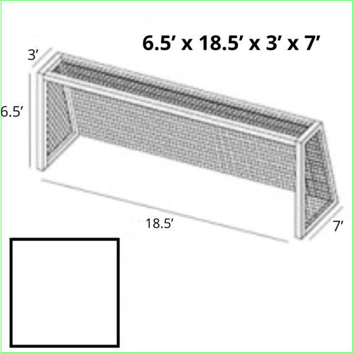 6x18x3x7 White Soccer Net