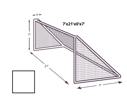 7x21 Soccer Net with NO Depth