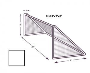8x24 Soccer Net with No Depth