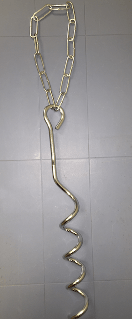 Corkscrew Anchor with Chain