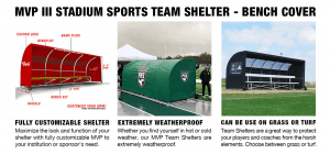 MVP III Stadium Team Shelters