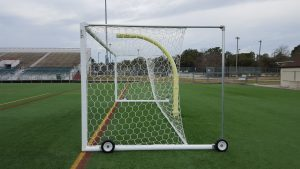 Boxed-in Stadium Goals Side View