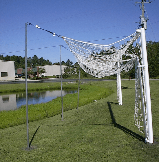 World Cup Soccer Goal with Hinged Frame Raised