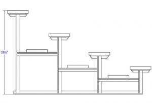 4-Row Bleacher - Height