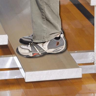 4-Row Bleacher - Standard Single Plank