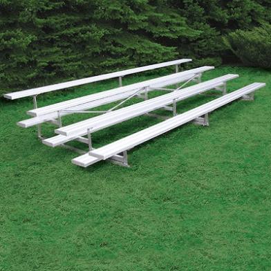 4-Row Bleacher - Natural Aluminum Finish