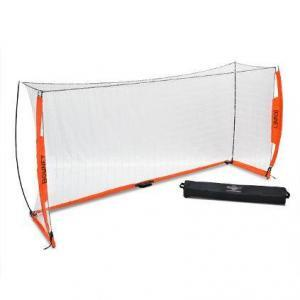 5x10 Soccer Bownet on White Background Angled