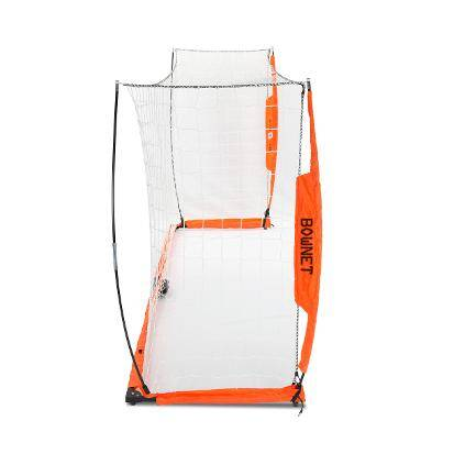 5x10 Soccer Bownet on White Background Side View