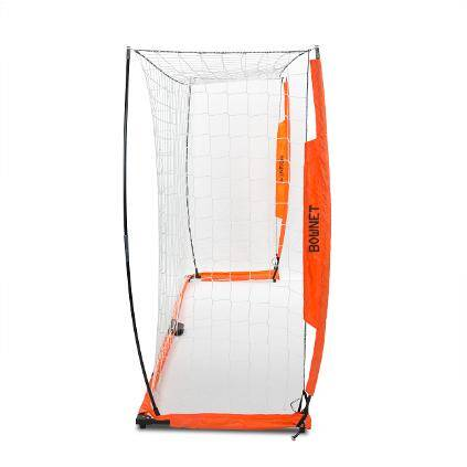 6x12 Soccer Bownet on White Background Side View