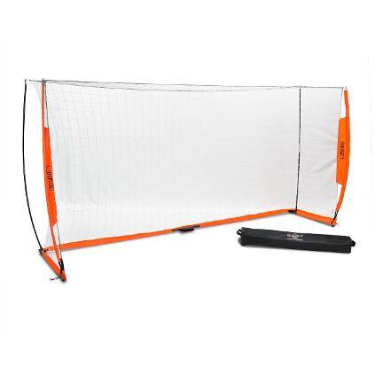 6x12 Soccer Bownet on White Background Side View with Bag
