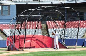 Red Big League Bomber All Star Batting Cage