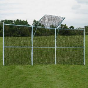 3-Panel Baseball/Softball Backstop with 1-Center Overhang