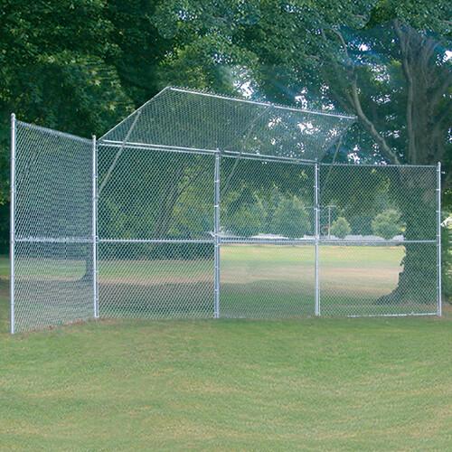 3-Panel Baseball/Softball Backstop with 2-Center Overhangs