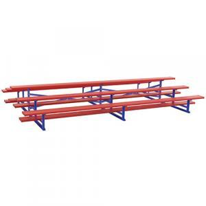 7.5ft 3-Row Back-to-Back Bleachers Powder Coated