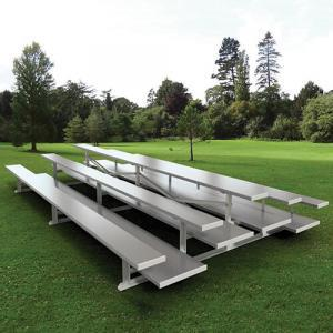 3-Row Back-to-Back Bleachers with Double Foot Planks