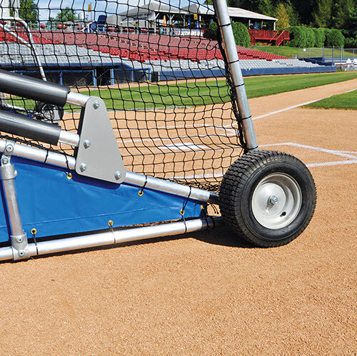 Big Bomber Pro Batting Cage - Over-sized Pneumatic Tires