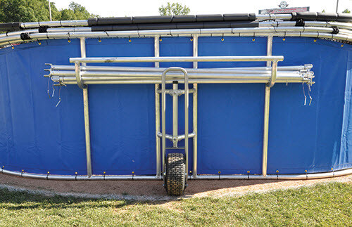 Big Bomber Pro Batting Cage - Strut Storage