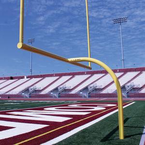 "The MAX-1 High School Aluminum Football Goal Post has an official NFHS width of 23' 4"". Features: 6 5/8"" Crossbar and Gooseneck  which is available with a 6' or 8' offset 4"" Uprights available in 20' or 30' heights 30' uprights are two-piece (single-piece available upon request) Adjustable in two directions ensures crossbar and uprights are level & plumb Permanent/Semi-permanent or adjustable leveling plate installation Ground sleeves for semi-permanent installation sold separately NFHS Compliant Note: 8' Offset which are prefect for multi-purpose fields and can be used with soccer goals (with a depth of 8' or less). White or Pro Yellow powder coating options are available Call (401) 623-8300 or (401) 244-5951 for Freight Quotes or Email us at Info@Goals4Sports.com"