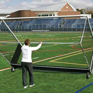 Jaypro Wheel Kit Moving a Field Hockey Goal