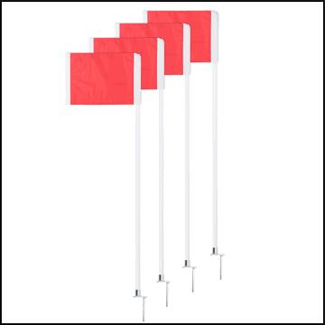 Deluxe Corner Flag Set