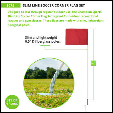 Slim Line Corner Flags - Measurement