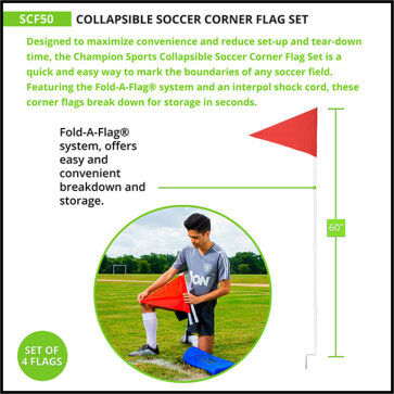 Portable Collapsible Corner Flag Set - Measurement