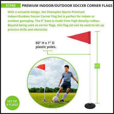 Premium Indoor/Outdoor Corner Flags with Rubber Base - Measurement