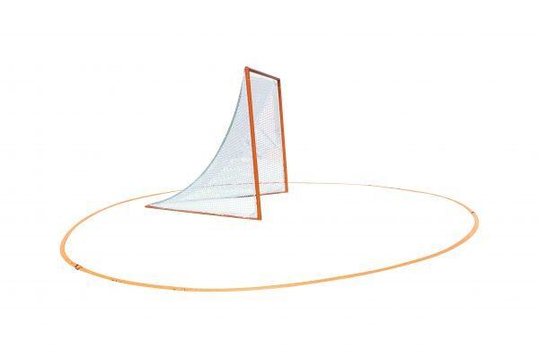 Lacrosse Crease Around Lacrosse Goal - Side View