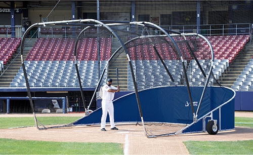 Navy Blue Big Bomber Elite Batting Cage
