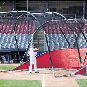 Red Big Bomber Elite Batting Cage