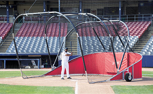 Red Big Bomber Elite Batting Cage