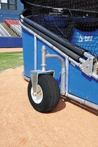 Royal Blue Big Bomber Elite Batting Cage - 18 inch oversized Turf Friendly Tires