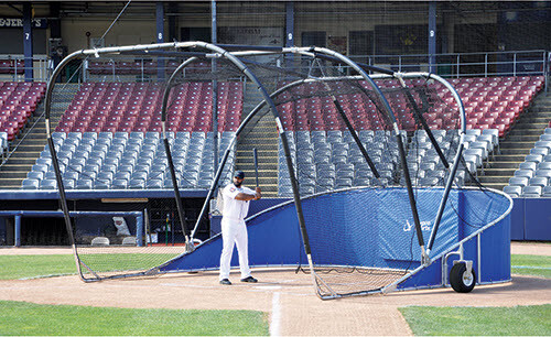 Royal Blue Big Bomber Elite Batting Cage