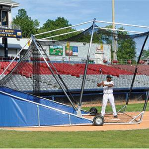 Royal Blue Big Bomber Pro Batting Cage