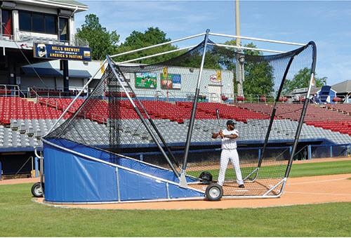 Royal Blue Big Bomber Pro Batting Cage