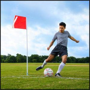 Deluxe Spring Loaded Corner Flag with Player