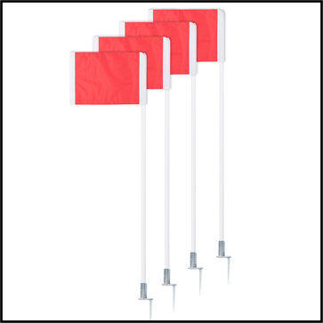 Deluxe Spring Loaded Corner Flag Set