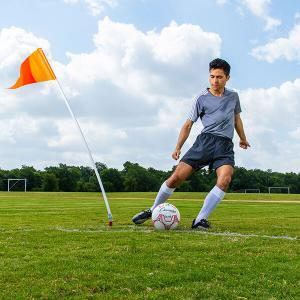 Corner Flags with Plastic Poles