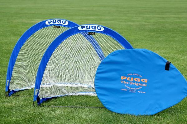 A Pair of 4ft Pugg Goals with Carry Bag and Shoulder Strap